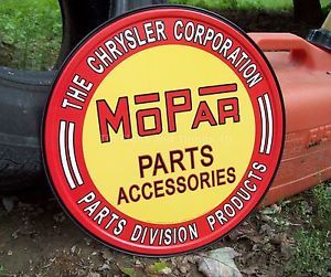 Mopar Tin Sign Chrysler Parts Garage Sign 613