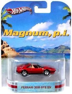 Magnum P I Ferrari 308 GTS QV Pi 2013 Hot Wheels Retro Entertainment Car