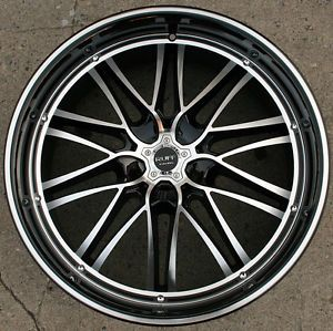 "Ruff Racing 947 22"" Black Rims Wheels Honda Accord 03 Up 22 x 9 0 5H 40"