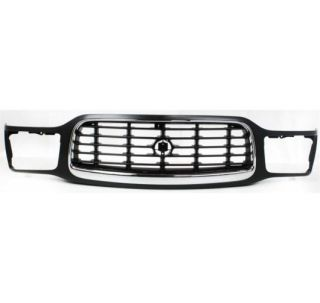 New Grille Assembly Grill Chrome Trim Black Insert Cadillac Escalade 99 12474498