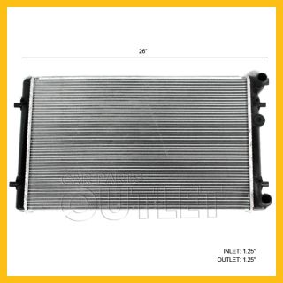 00 06 Audi TT 1 8 99 05 VW Golf Jetta 1 9 2 0 2 8 4CYL Radiator Assembly New