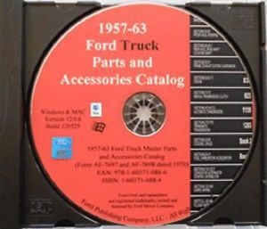 1957 63 Ford Truck Master Parts Catalog on CD F100 F250 F350