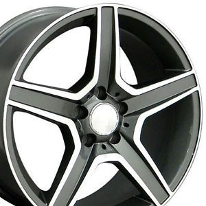 "Set of 4 New 18"" Staggered Mercedes CES Gunmetal AMG Wheels Rims 18x8 5 9 5"