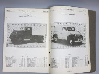1940 Dodge Pickup Panel Truck Parts List Manual Book 40