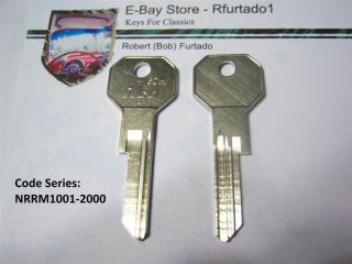 Key Blank for Vintage Rolls Royce Bentley 1981 to 1991 Master Key 62HF