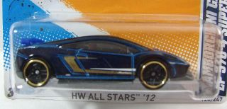 Hot Wheels 2012 HW All Stars Lamborghini Gallardo LP570 4 Superleggera DK Blue 746775110796