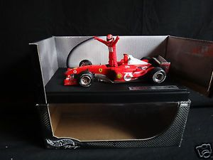 Hot Wheels Racing Ferrari F2003 GA Michael Schumacher 1 18 Scale Diecast