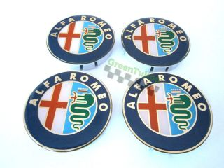 Alfa Romeo Wheel Center Caps Hubs 4pcs 60mm Silicone Emblem Logo Alloy Rims