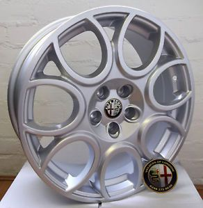 "Alfa Romeo 17"" Horse Shoe Style Alloy Wheel Set New"