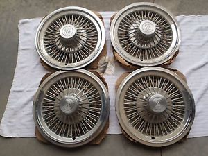 "Buick 14"" Wire Spoked Hubcaps Wheel Cover ""NOS"" Set of 4"