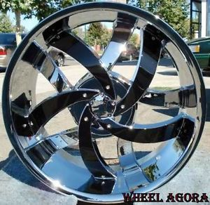 "24"" inch Rims Wheels F 150 Navigator Expedition Chevy Impala Caprice 5x127 5x135"