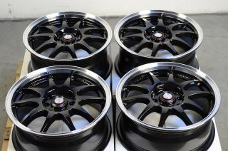 "15"" Black Effect Wheels Rims 4 Lugs Nissan Cube Altima Versa Accord Civic Cobalt"