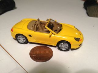 Hot Porsche Boxster Model with Many Parts Rubber Tires RARE Great Gift Wheels