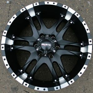 "Ballistic Off Road Wizard 810 20"" Black Rims Wheels GMC Yukon Silverado"