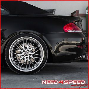 "20"" MRR GT1 Silver Staggered Wheels Rims Fits BMW E46 M3"