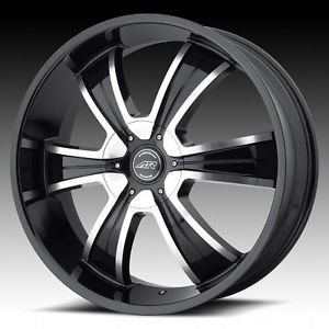 22 inch AR894 Black Wheels Rims 6x5 6x127 Chevy Trailblazer GMC Envoy Bravada