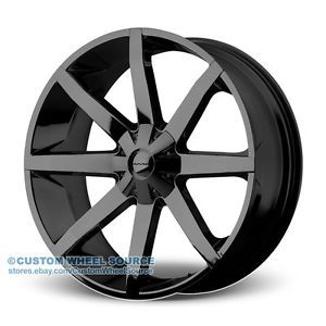 "26"" KMC Slide Black Wheel Tire Package for Dodge Ford GMC Hummer Lincoln"