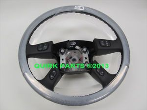 2005 2007 Chevy GMC Hummer Black Leather Steering Wheel Brand New GM Genuine