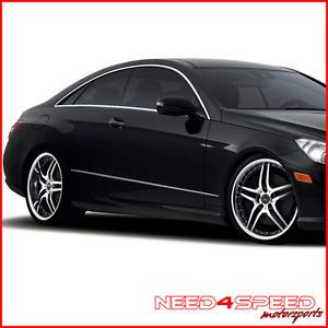 "19"" Mercedes Benz W212 E350 E550 E63 Roderick RW2 Black Staggered Wheels Rims"