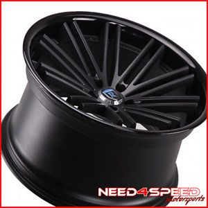 "20"" Mercedes Benz CLS550 CLS63 Rohana RC20 Black Concave Staggered Wheels Rims"