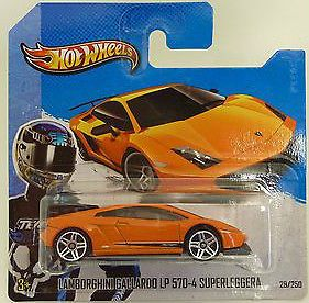 Hot Wheels 2013 HW City Lamborghini Gallardo LP 570 4 Superleggera New Euro Card