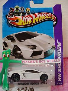 Case Q 2013 Hot Wheels Lamborghini Aventador LP 700 4 173★white★showroom