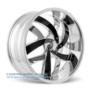 "20"" Velocity VW825 Chrome Wheel Tire Package for Mazda Mitsubishi Nissan Volvo"