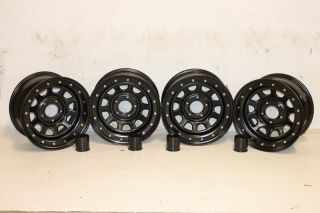 4 Black Rock 952 Street Lock Wheels 15x8 5x4 5 87 06 Jeep Wrangler YJ TJ