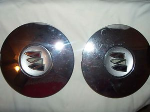 1999 2003 Buick Regal Wheel Center Caps Set of 2 Used Chrome Color