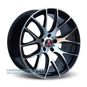 "20"" Axe CS Wheels Tires Black Machined Acura Audi Buick BMW Cadillac Chevy"
