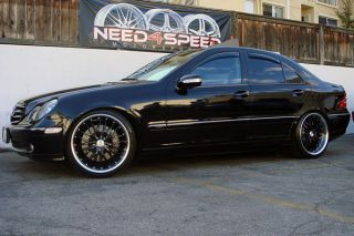 "19"" Mercedes Benz C32 C55 Black MRR GT1 Wheels Rims"