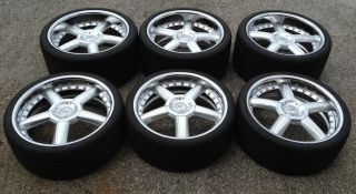 "6 20"" Mercedes McLaren SLR Wheels Tires Rims CEC 7254 with 2 Spares"