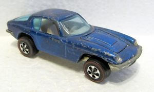 "Mattel Hot Wheels 1969 Redline Blue ""Maserati Mistral"" Vintage Matchbox Car"
