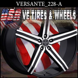"Versante 228 24"" Blk MF Wheels Tires Chevy Caprice Buick Regal G National"
