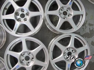 03 06 Mitsubishi Lancer EVO Evolution Factory 17 Wheels Rims MN100350 65781