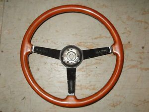 Alfa Romeo Spider Hellebore Wood Steering Wheel Dished Black Spokes