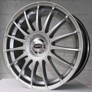 "18"" Ford Mondeo MK4 2007 2012 Team Dynamics Monza Silver Alloy Wheels 5x108"