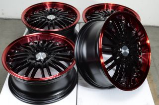 "16"" Racing Red Wheels Rims 4x100 4x108 Contour Escort Fiesta Focus Cougar Jetta"