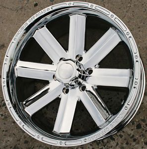 Incubus Recoil 518 20 x 9 0 Chrome Rims Wheels GMC Sierra 1500 88 Up 6H 12