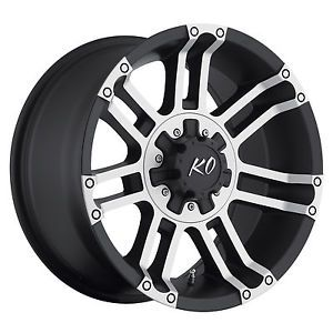 "20"" Black Rev Crusher Wheels GMC Chevy Truck 2500 3500 Silverado Sierra 8 Lug"