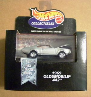 Hot Wheels Black Box 1969 Oldsmobile 442 Silver NIB