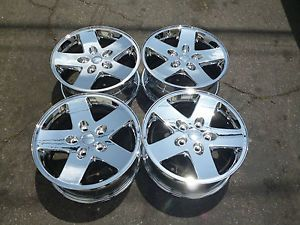 "17"" Jeep Wrangler Rubicon Plated New Chrome Wheels Rims Perfect Condition Set 4"
