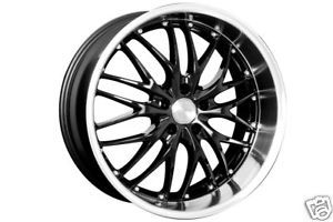 18 MRR GT1 Black Rims Wheels Tires Pontiac GTO Stagered