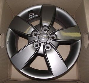 "2011 2012 2013 Kia Forte Koup 16"" Charcoal Grey Alloy Wheel Rim Wheels Rims"