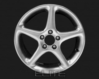 1999 2002 Saab 9 3 17x7 5 Factory Replacement Hyper Silver Set of 4 Rims