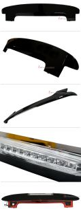 LED Rear Window Roof Wing Spoiler Painted for Kia New Picanto 2008 2009 2010