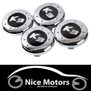 K3 Logo Chrome Plating Wheel Center Caps 4P Fit Kia Forte Cerato yd 2013 2014