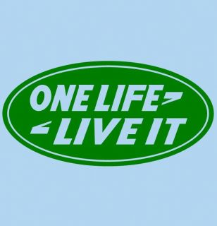 One Life Land Rover Style Decal Sticker Car Truck