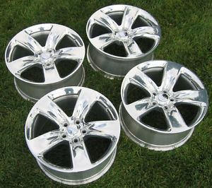 "2014 Jeep Factory Grand Cherokee SRT 20"" Wheels Rims Center Caps SRT8"