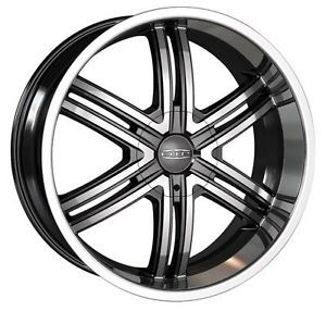 22 inch DIP Hack Black Wheels Rims 5x5 Jeep Wrangler Grand Cherokee Commander
